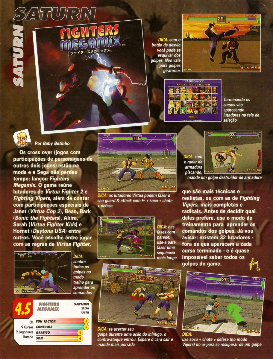 Matéria da Revista Super Game Power Nº 36 para o jogo
