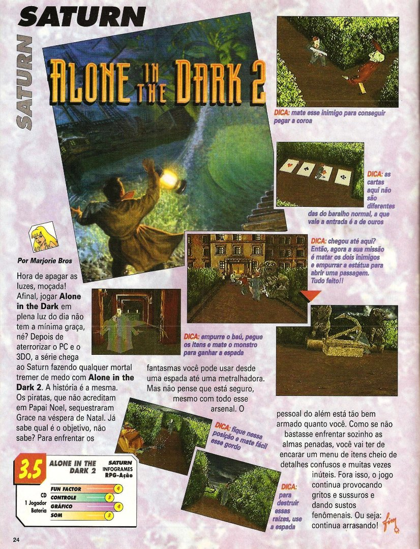 Materia Da Revista Super Game Power Nº 26 Para O Jogo Alone In The